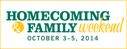 Homecoming & Family Weekend, Oct. 3-5, 2014